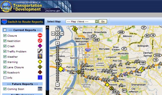 Louisiana Travel Information Map – East Baton Rouge Parish Library ...