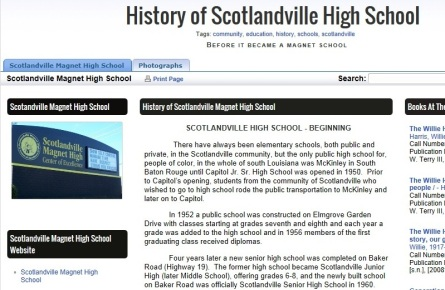 Scotlandville High School Info