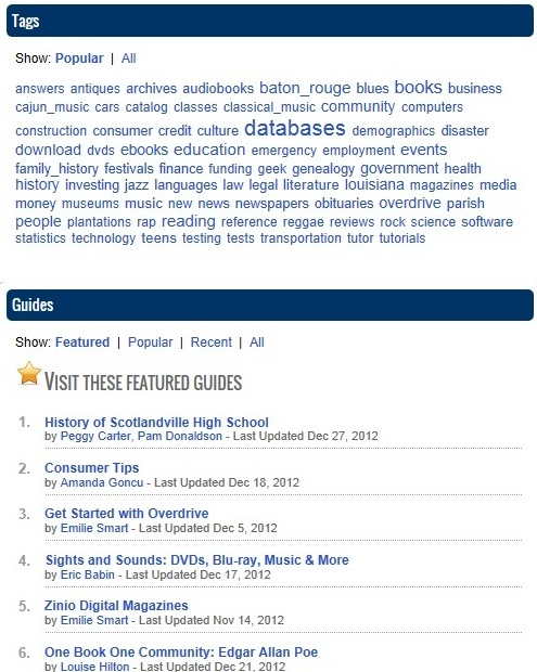InfoGuides Homepage