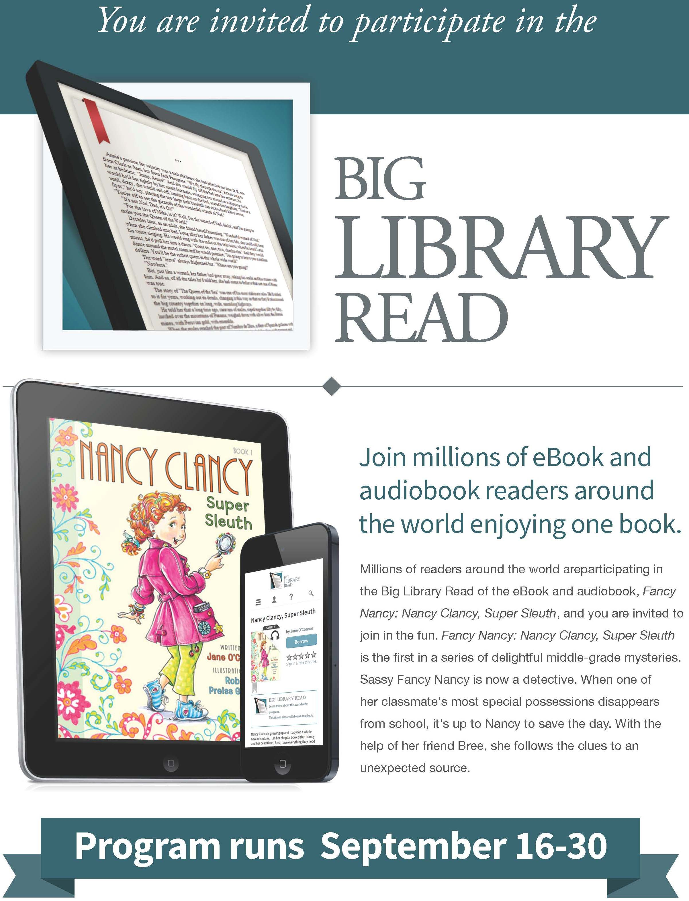 Overdrive Big Library Read Selection: Nancy Clancy, Super ...